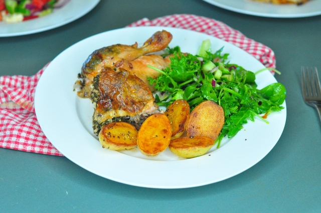 Mediterranean Herbed Roast Chicken