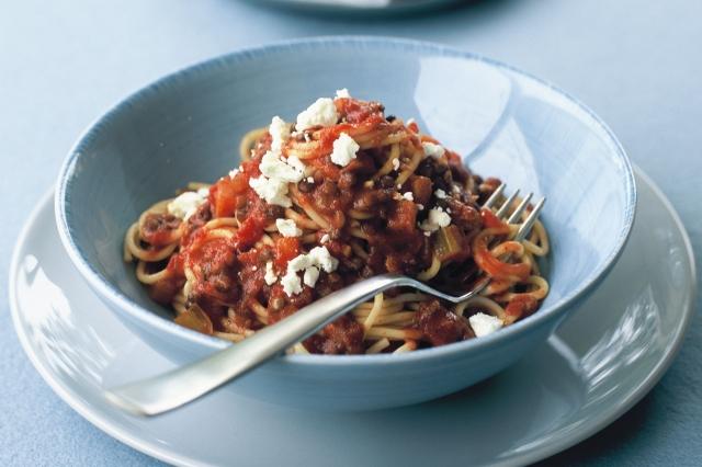 Vegetarian Lentil Bolognese Pasta